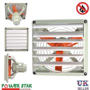ATEX Rated EX Explosion Proof Extractor Ventilation Axial Fan with Louver Shutter